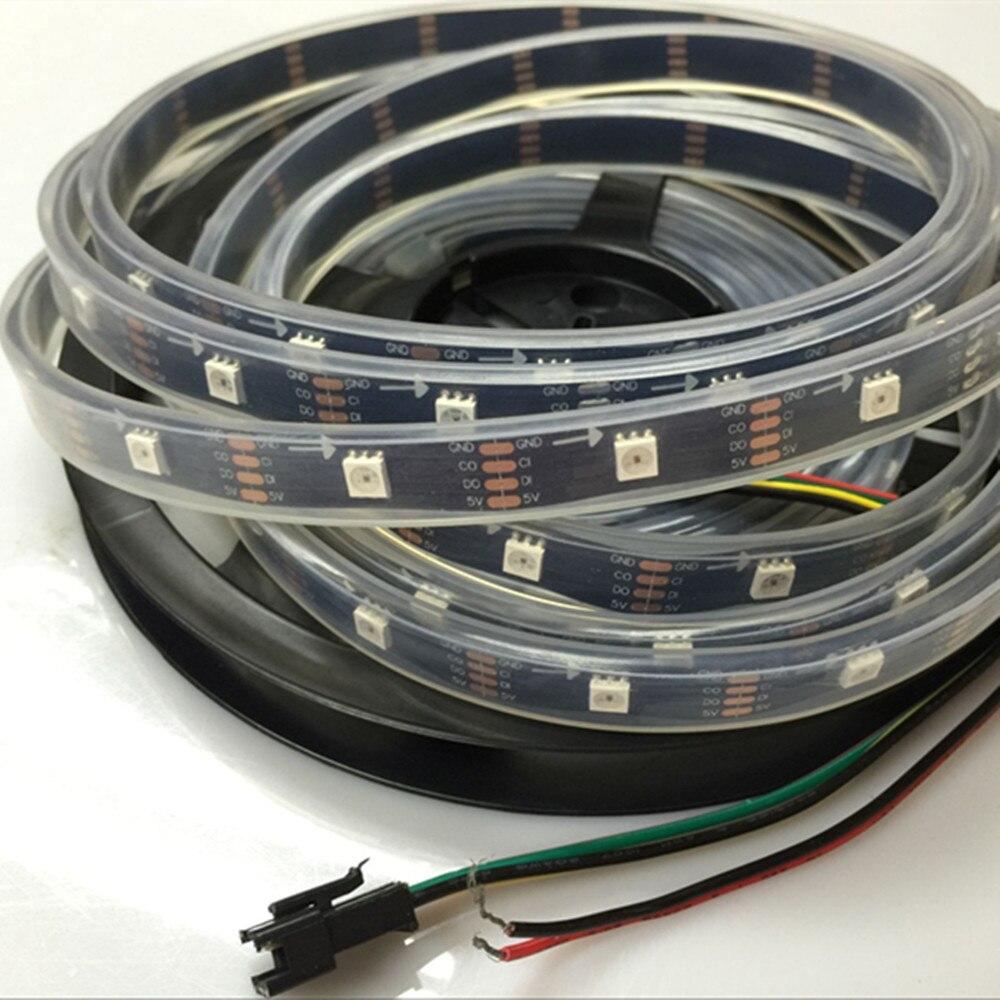 YIYANG Digital Project Lighting APA102 30 píxeles tubo IP67 Tiras LED de Color de sueño programables a prueba de agua con Chips integrados