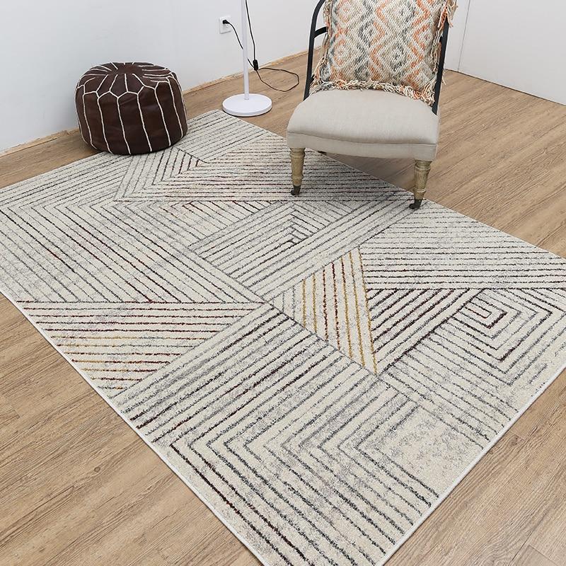 Alfombra mediterránea grande para sala de estar alfombras azules para dormitorio mesa de té alfombra Rectangular para suelo 80x150cm
