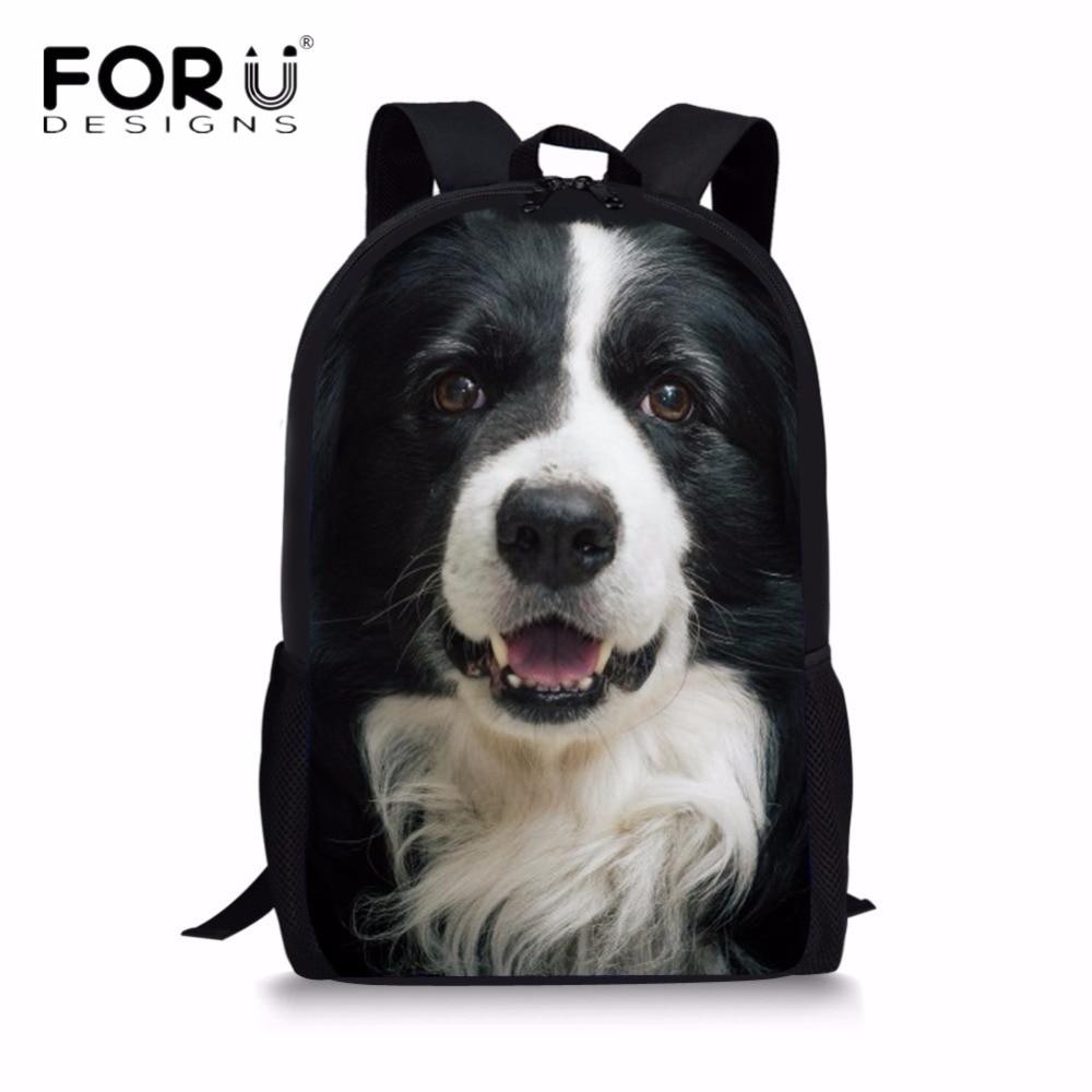FORUDESIGNS, mochila escolar para niños, bonita mochila escolar con estampado de animales en 3D para niñas, niños, escuela primaria, mochila para estudiantes