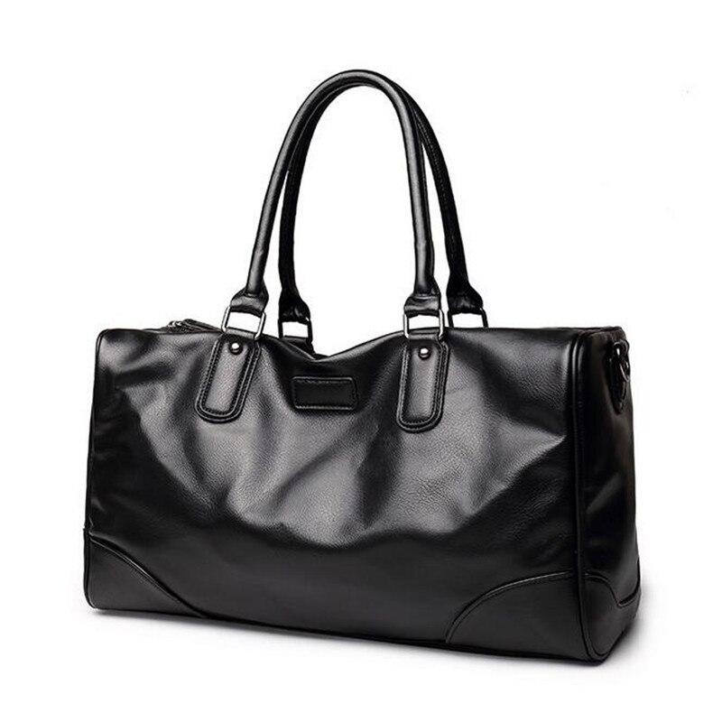 Male Multifunction casual handbag PU leather shoulder messenger travel bag  new crossbody business m
