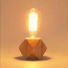 Lampe de table moderne LED reconstituant des manières antiques bois lampe de bureau éclairage intérieur bureau chambre bureau lampe de table ~