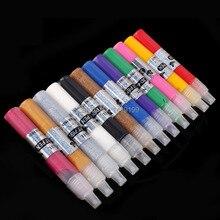 12 Colors Professional 3D Nail Art Paint Drawing Pen Acrylic Nail Art Polish Carved Pen Kit Set DIY tools