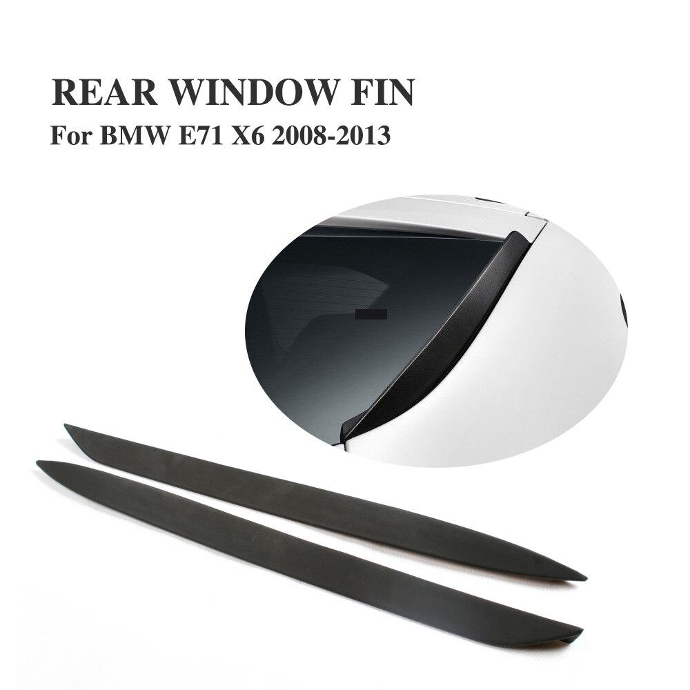 Заднее стекло автомобиля, Боковые ребра, крыльев, ветрового стекла, спойлер для BMW E71 X6 X6M 2008-2013 PU черный праймер 1 пара
