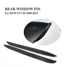 Car Rear Window Fin Side Fins Wing Windshield Spoiler For BMW E71 X6 X6M 2008-2013 PU Black Primer 1Pair