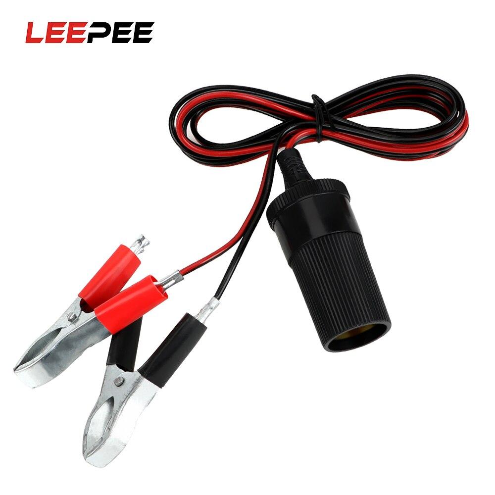 LEEPEE 12 в автомобильный зажим для аккумулятора Клеммный Зажим усилитель перемычка Кабель зажим-на прикуриватель Автомобильный Аккумулятор кабель розетка адаптер питания