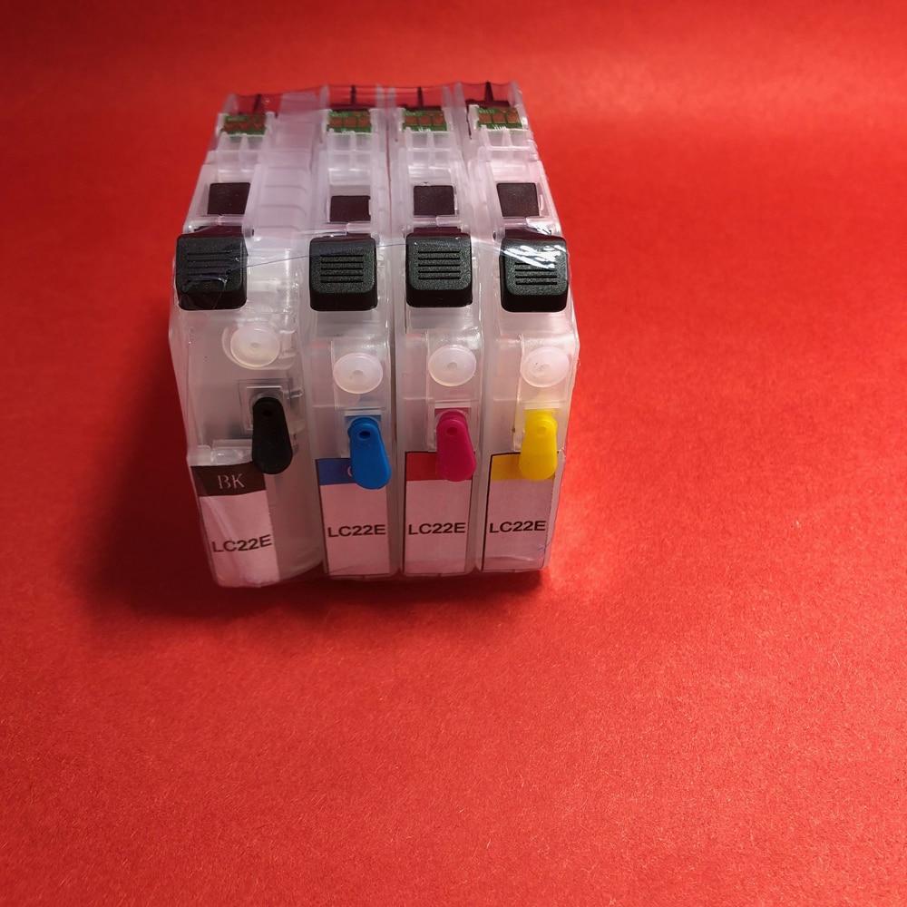 Yomat 1 Juego de cartucho de tinta recargable LC 22E LC22E para impresora Brother MFC-J5920DW (Europa)
