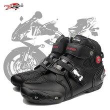 Botas de moto profesional rbike moto rcycle botas de carreras cruzadas motociclista impermeable proteger los zapatos para motocicleta A9003