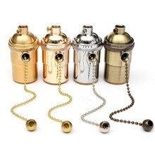 Top qualité E27 E26 en laiton massif plafonnier douille titulaire chaîne de traction Vintage lampe titulaire pendentifs