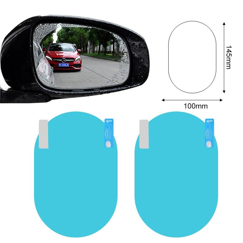Retrovisor de coche película protectora para espejo etiqueta engomada para audi q5 skoda Superb 2 opel corsa d suzuki sv 650 renault espace 4 clio