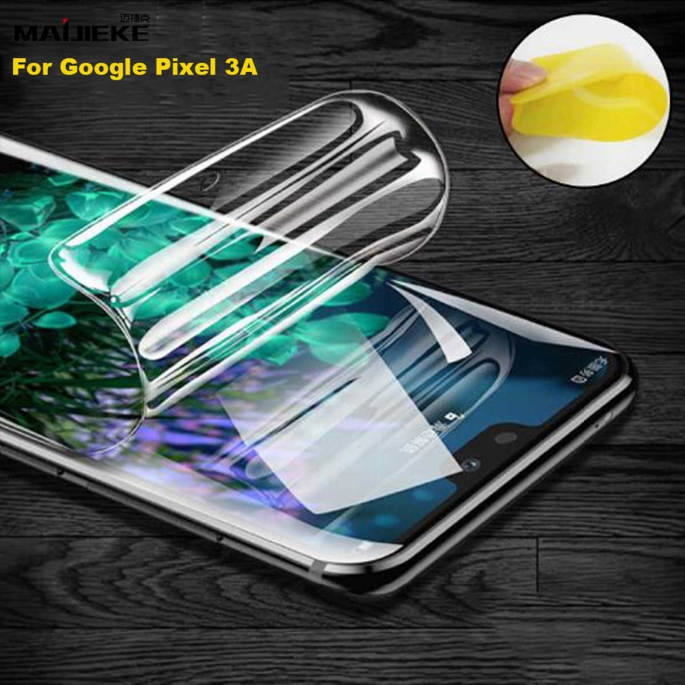 Película de hidrogel frontal suave para Google Pixel 3A XL 3XL 3 2XL 2 4xl cubierta completa TPU nano película protectora de pantalla frontal a prueba de explosión