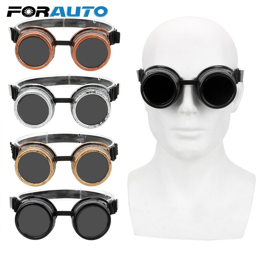 Óculos de sol estilo steampunk forauto, óculos de sol ajustável do vintage, óculos punk gótico, para soldagem