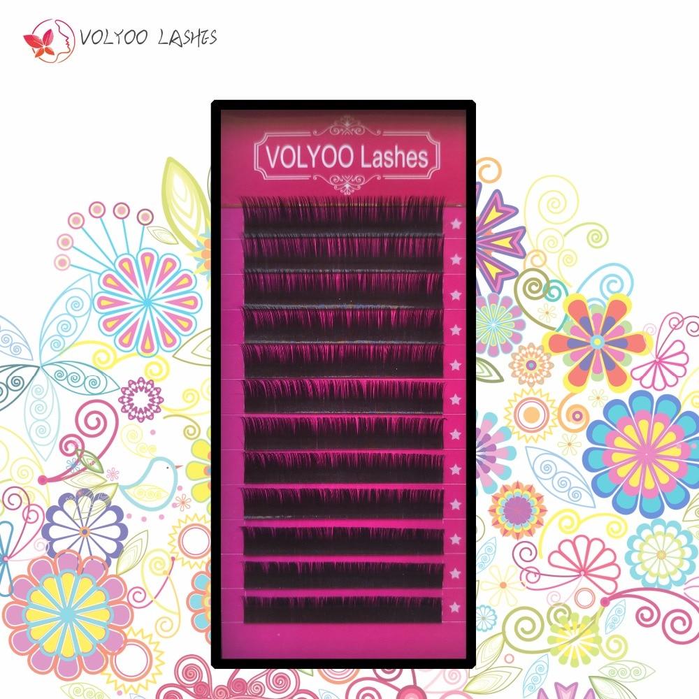 VOLYOO ресницы оптом высокое качество настоящая норка BCDJ наращивание ресниц мягкие черные поддельные накладные Lash8-14mm инструменты для макияжа...