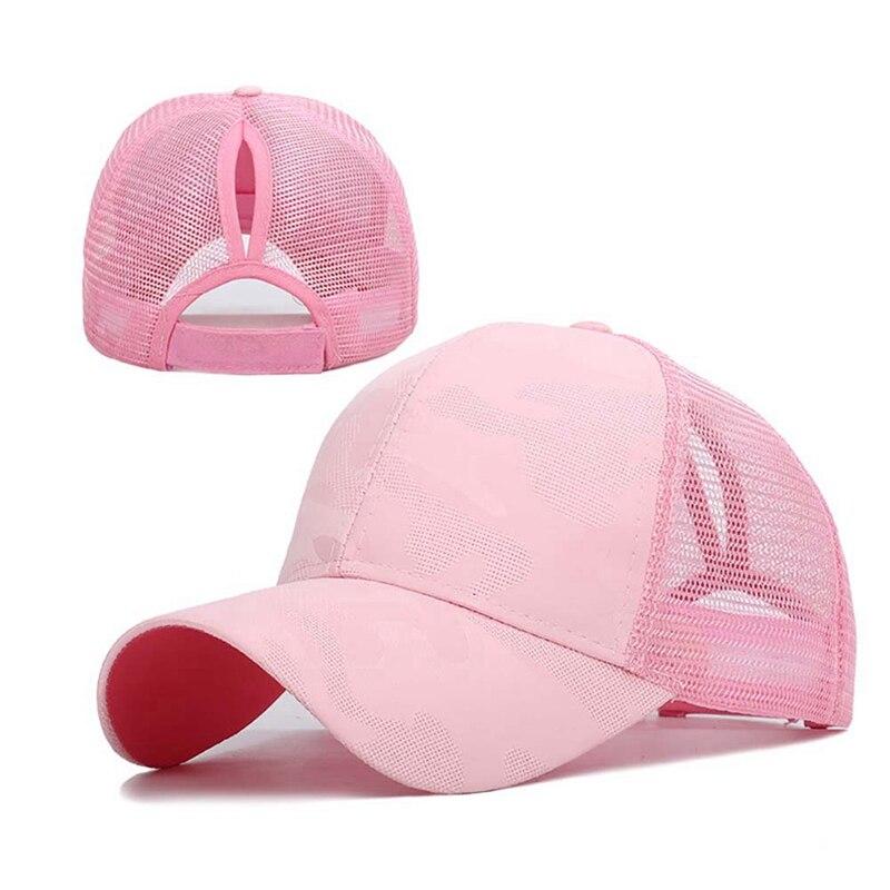 Gorra deportiva para correr sombrilla de algodón transpirable gorra de cola de caballo con Cierre trasero ajustable para lisos bollos altos