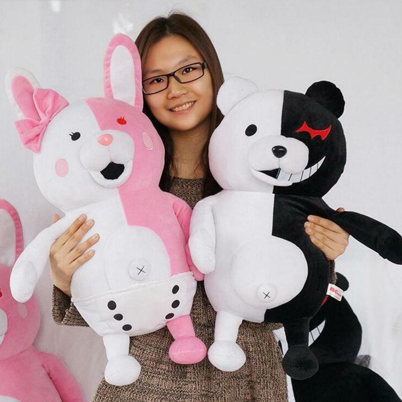 New Pink&White Monomi Rabbit Plush Toys Arrival Danganronpa: Trigger Happy Havoc Bear Rabbit Dangan Ronpa Monokuma Doll Toy