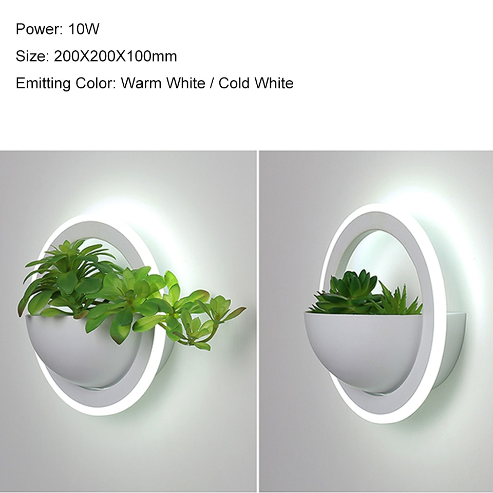 Modern plant wall lights Creative bedside bedroom sconce living room simple modern aisle acrylic Nordic Indoor LED wall lamp  - buy with discount