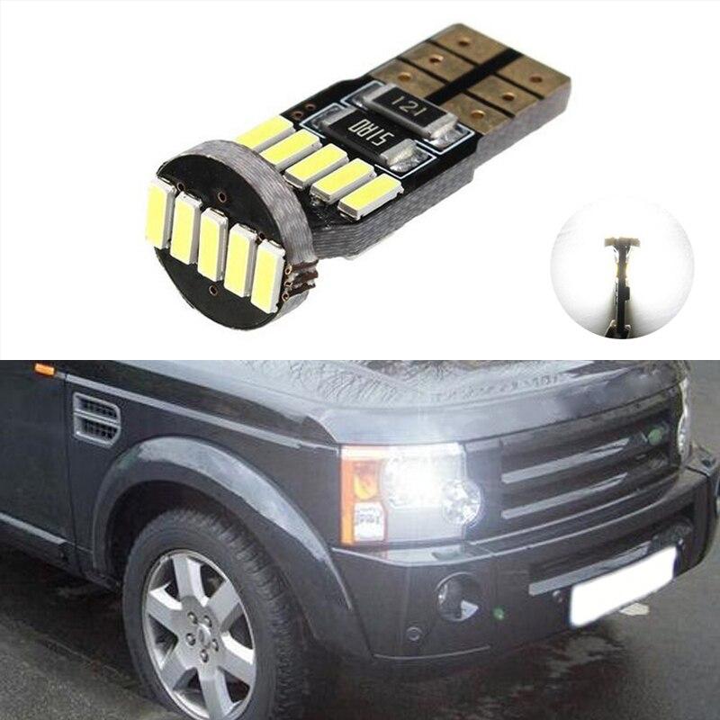 1x T10 LED W5W Samsung Автомобильные светодиодные лампы для Land Rover v8 discovery 4 2 3x8 freelander 2 defender A8 a9