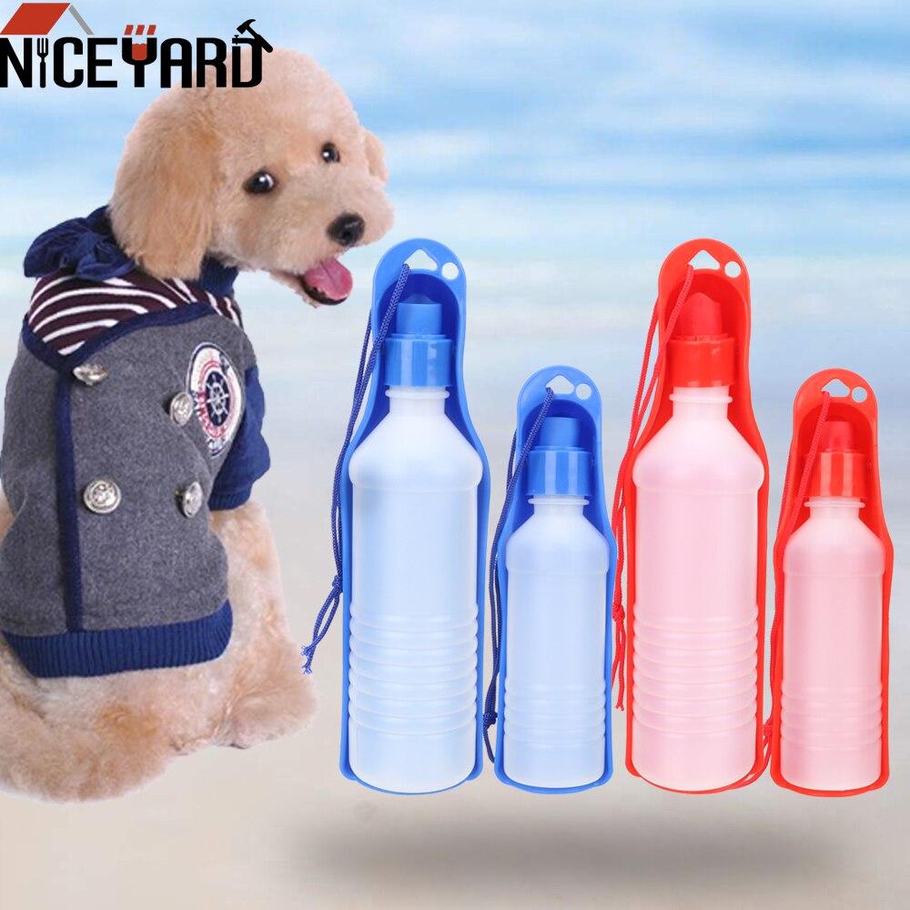250/500 ML Portable Foldable Pet Dispenser Dog Cat Drinking Water Feeder Outdoor Pet Puppy Bowl Dog Travel Water Bottle
