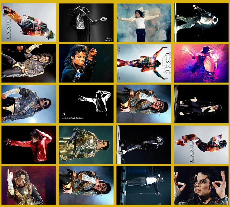 Lanchenyi pegatina de Serie Clásica hecha a mano Rock Michael Jackson 20/Uds artesanías de PVC colección regalo diseño de pared pegatina