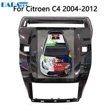 Lecteur Radio multimédia pour Citroen C4 Quatre Triumph   Écran de voiture de style Tesla, Android 10.4, 7.1 pouces, GPS, Navigation de cartes, 2004-2012
