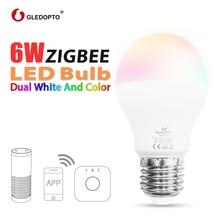 ZIGBEE all 3.0 LED 6W BULB RGBCCT ww/cw led smartphone control AC100-240V E27/E26  bulb zigbee zll light link compatible