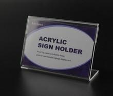 10X8 cm Dikte 2mm Tafel Tablet Stand acryl Teken clip houder clear prijskaartje label houder bureau teken stand label frame mouw