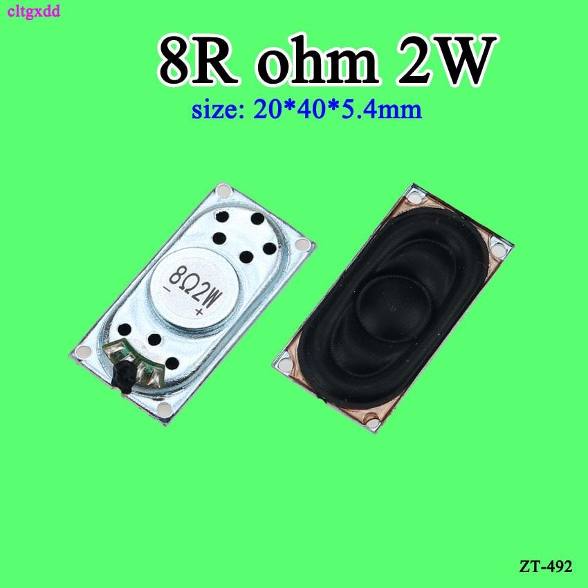 Cltgxdd Mini altavoces portátiles de Audio 2040 8 Ohm 2W 20mm * 40mm altavoz para ordenador portátil cuadrado DIY Conector de altavoz para ordenador