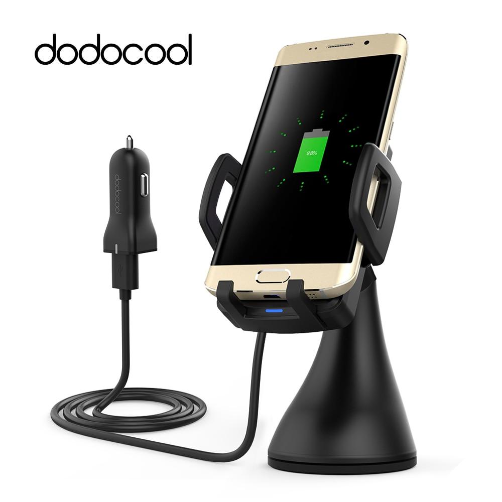 Dodocool-شاحن سيارة لاسلكي Qi 10W ، لوحة قاعدة شحن ، شواحن هاتف لهاتف Samsung Galaxy S9 S8 Edge Plus Nexus 4/5/6/7