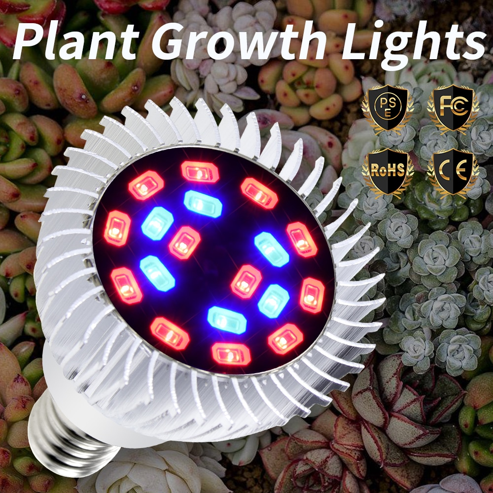 Светодиодное освещение для теплиц, 18 Вт, E27 светодиодный светодиодное освещение для выращивания растений, лампы для гидропоники, 220 В, E14, све...