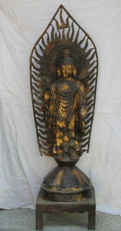 USPS rapide aux états-unis S2250   S2250, 55 pouces, antique bouddhisme du Tibet, Shakyamuni, Statue de bouddha, Amitabha, Sakyamuni