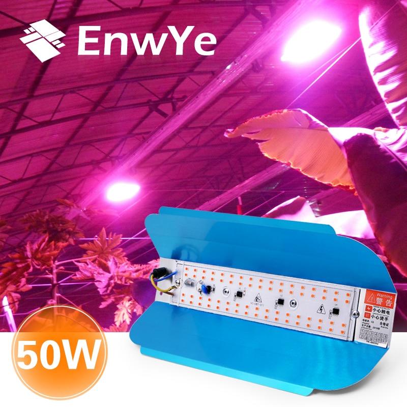 EnwYe 50 Вт светильник для роста растений светодиодный светильник для выращивания растений Фито простой прожектор светильник 220 В для растений...