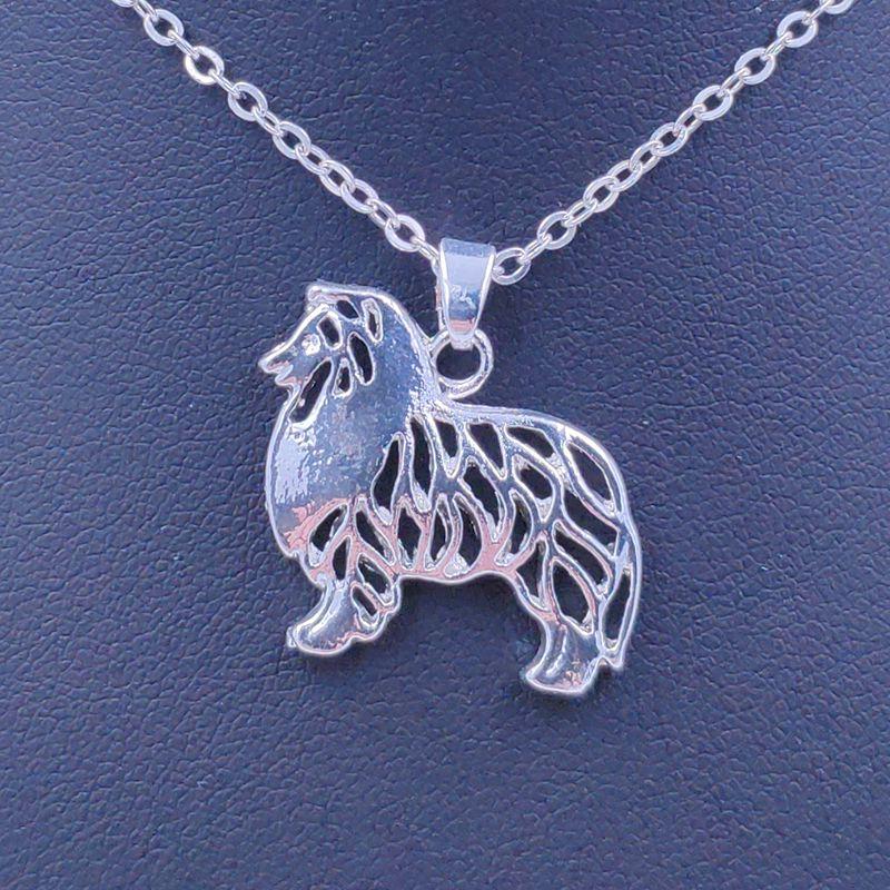 ¡Novedad de 2020! Collar de perro pastor Shetland, colgante de Animal perro, joyería chapada en oro y plata para mujeres, niñas y niños, N093