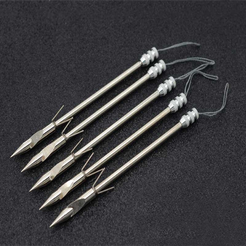 5 pçs/10 pçs projétil peixe dardo caça tiro catapulta dardo engrenagem de pesca aço inoxidável estilingue acessórios