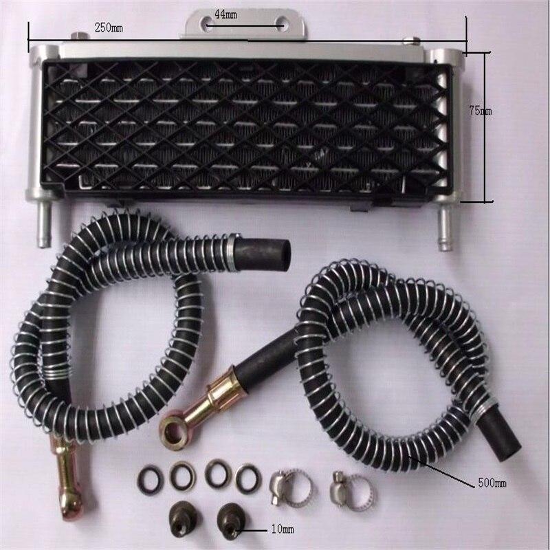 110cc-125cc de enfriamiento del aceite del motor refrigerador del radiador para honda yamaha kawasaki moto rcycle de la bici de la suciedad pit bike pitbike a