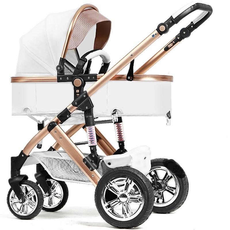 Детская кожаная коляска babyfond 2 в 1 детская летний светильник складная коляска folding