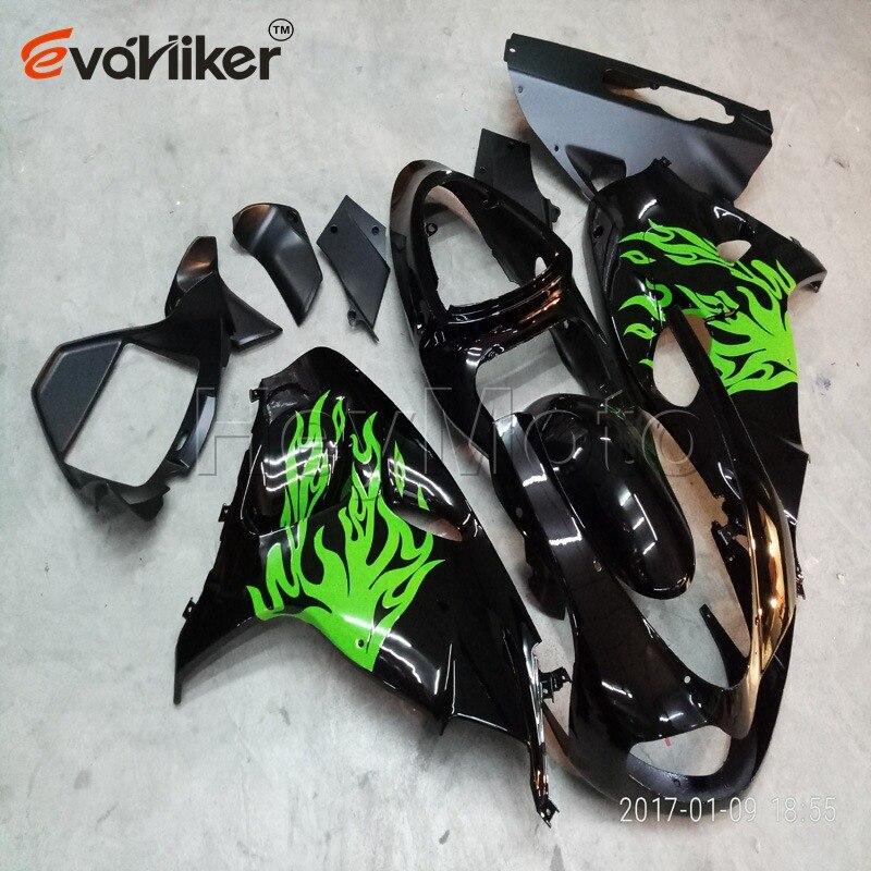 Motocicleta panel para TL1000R 1998-2003, 1998, 1999, 2000, 2001, 2002, 2003 motor carenado de plástico de pedido del kit + ABS Verde Negro