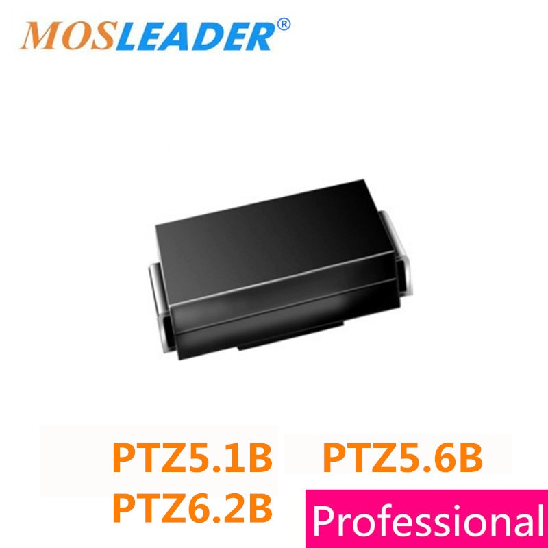 SMA 1500 pcs PTZ5.1B Mosleader 5.1B PTZ5.6B 5.6B PTZ6.2B 6.2B DO214AC PTZ5.1 PTZ5.6 PTZ6.2 5.1 v 5.6 v 6.2 v 5V1 5V6 6V2