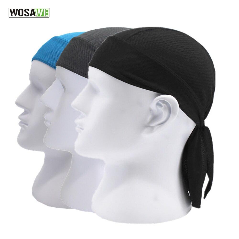 WOSAWE Quick Dry Pure Cycling Skull Cap Head Scarf Summer Men Running Riding Bandana Headscarf Ciclismo Pirate Hat Hood Headband
