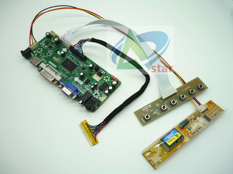 Envío Gratis + HDMI + DVI + VGA + Placa de controlador de audio LCD kit para N170C2-L02 LP171WP4-TL03 LP171WP4-TLN1 B170PW01 1440*900