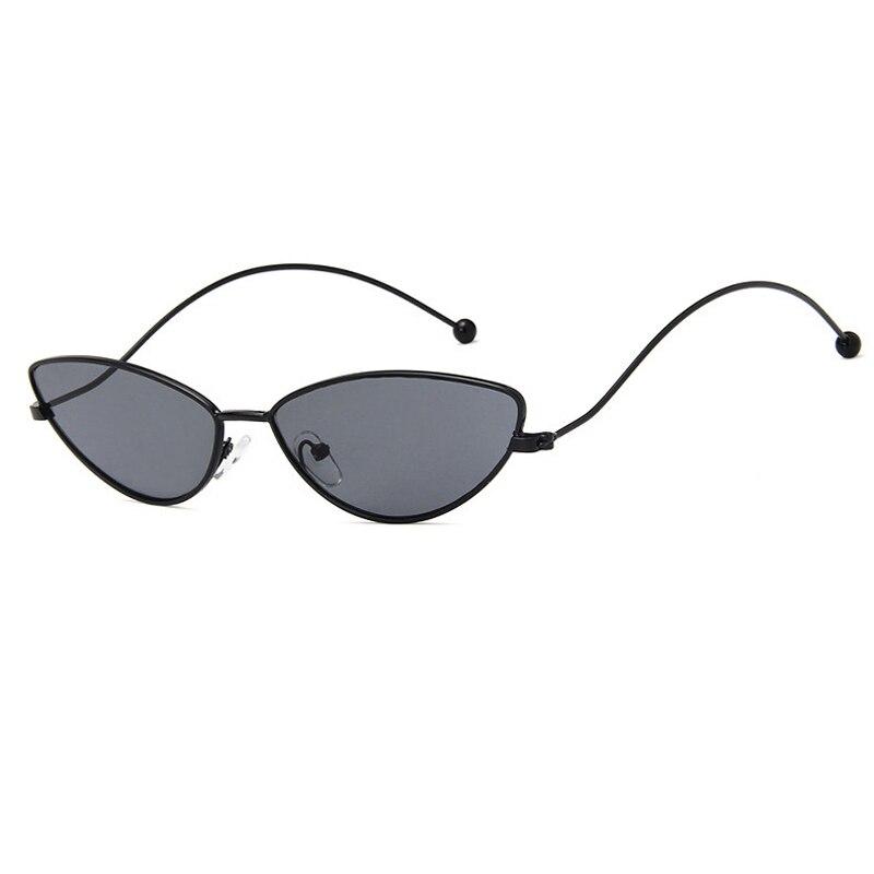 New Metal Cat Eye Sunglasses Women Small Triangle water drop shipping Fashion sun glasses Ladies gif