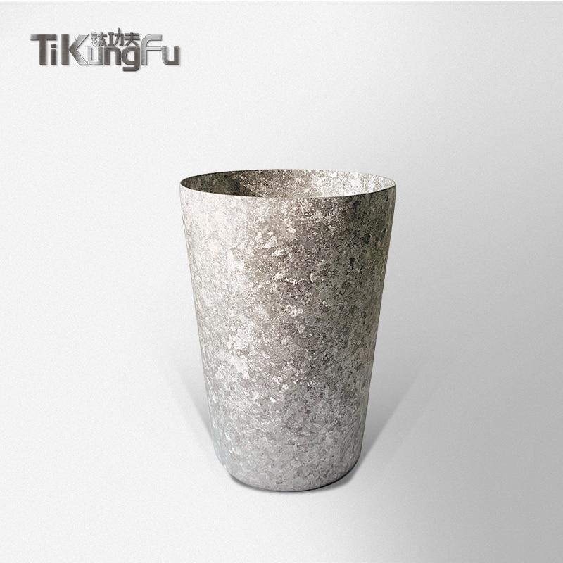 Vaso de doble pared de titanio, taza de agua de plata al vacío, regalo japonés, cerveza, café, té, Sake Tikungfu, gran oferta, envío gratis