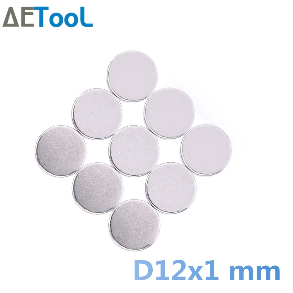 AETool новый 12x1 мм диск редкоземельный неодимовые магнитные материалы супер сильные магниты N50 ремесло сильные магниты на холодильник магнеет