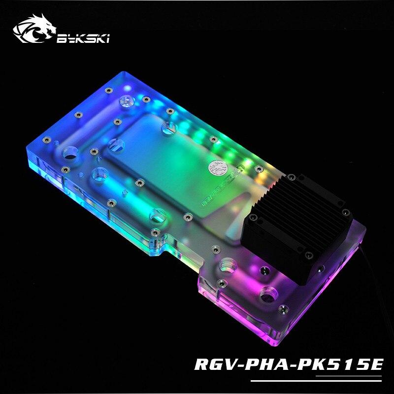 RGV-PHA-PK515E deflector de tabla por vía fluvial, tablero de canales con programa de Bomba De refrigeración de agua, iluminación RBW para chasis PHANTEKS 515E