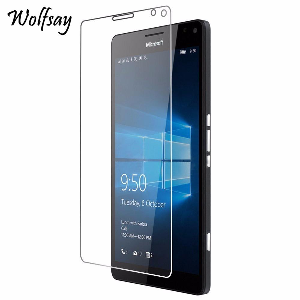 2 uds cristal Wolfsay para Lumia 950 Protector de pantalla XL vidrio templado para Lumia 950 XL para vidrio Microsoft Nokia Lumia 950XL película