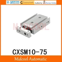 free shipping cxsm10 75 high precision double screw cylinder air smc series 10 75mm