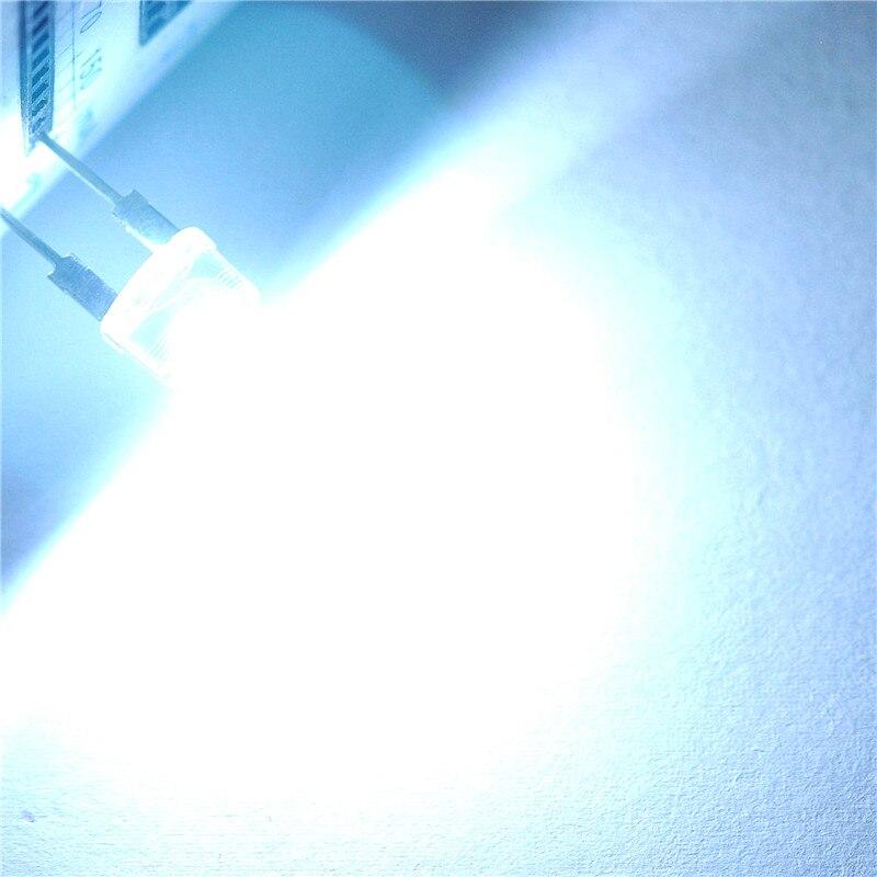 Chapéu de palha LED light-emitting diode 8 MM cabelo branco luz branca (20 pcs)