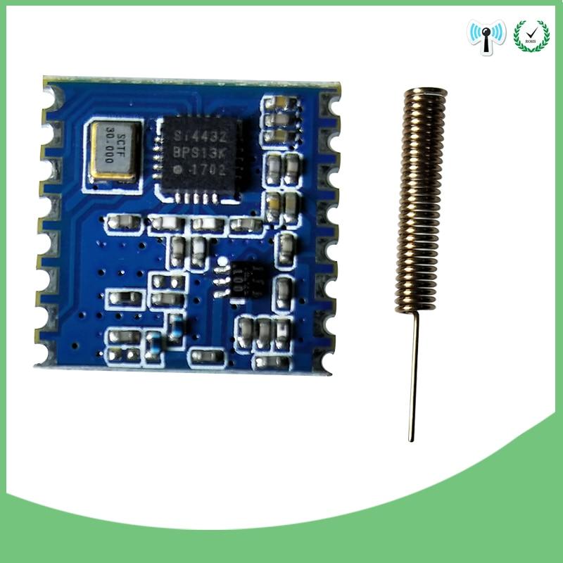 Original 433MHz módulo inalámbrico FSK inalámbrico de espectro extendido transceptor receptor rf escudo IOT y 1 Uds de antena de 433MHz