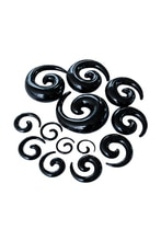 PLA chaud acrylique spirale cône chair Tunnel oreille StrPLAher extenseur escargot conception oreille goujons 5 mm noir