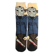 K145 noir vendredi personnalisé impression chaussettes mode drôle nouveauté bande dessinée chaussette confort heureux ing coton équipage chaussettes