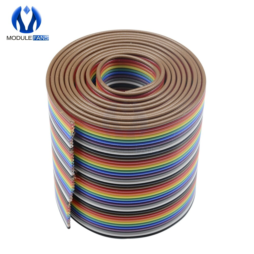 1M 3.3ft 40 Pin Color plano Arco Iris cinta IDC Cable Arco Iris Cable