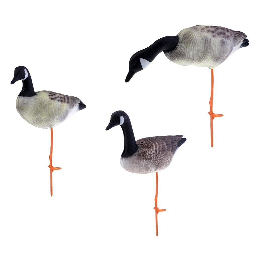 3 шт., реалистичные охотничьи декорации с изображением гуся, Декорации для лужайки, 3 различных модели